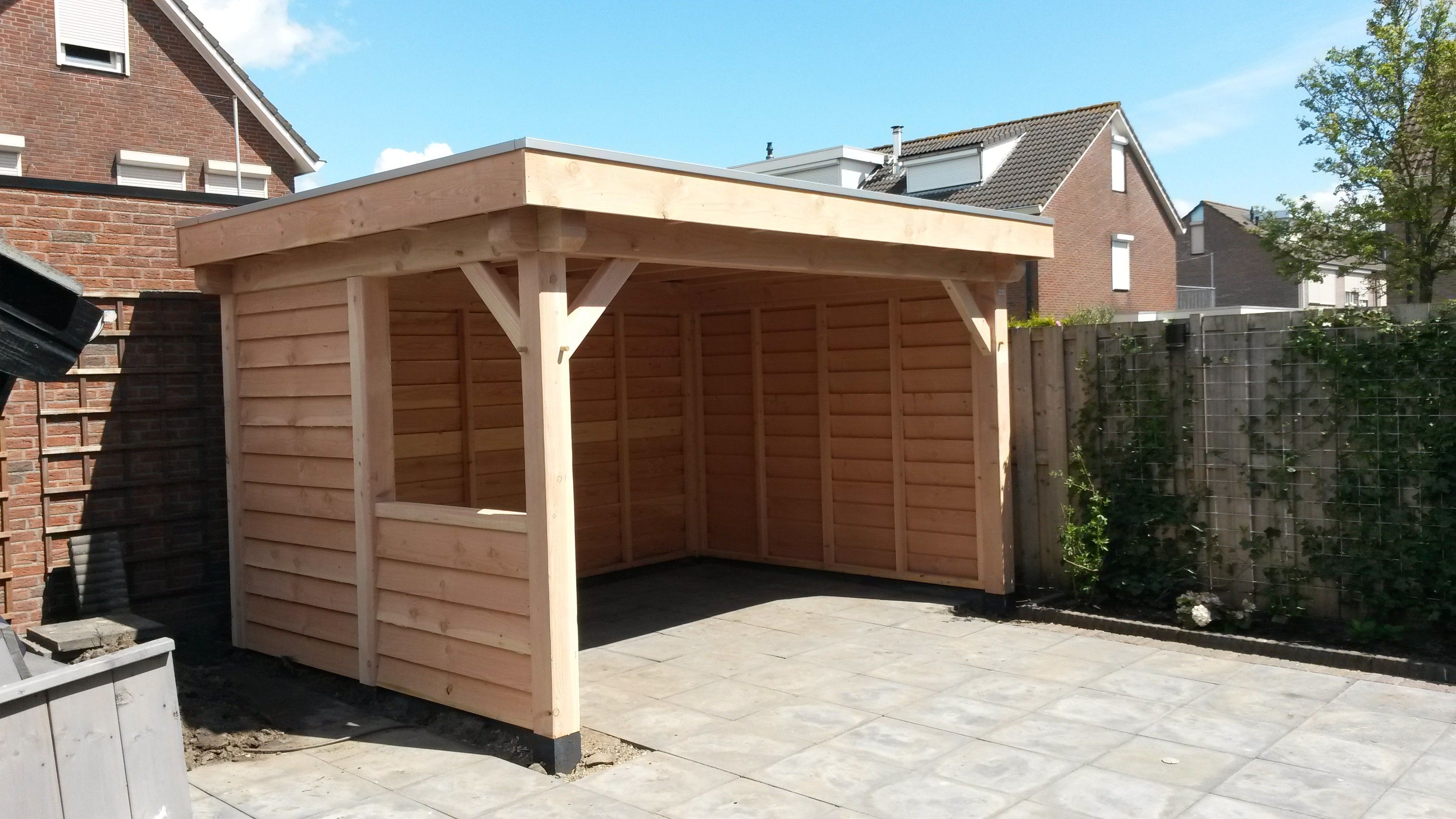 Tuinhuis tuinhuis hout behandelen Goedkope douglas veranda 400x300 kopen? Bestel bij Budget Houtbouw